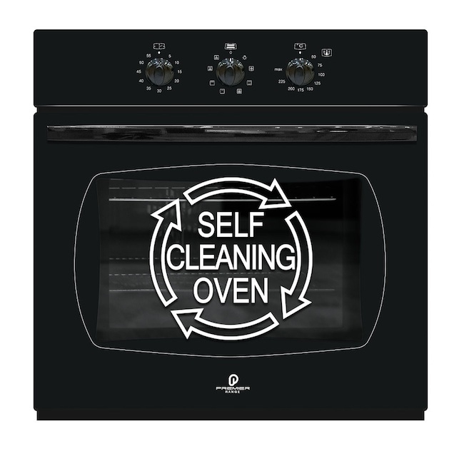 60cm Electric Black Fan Assisted Self Cleaning Oven Ebay