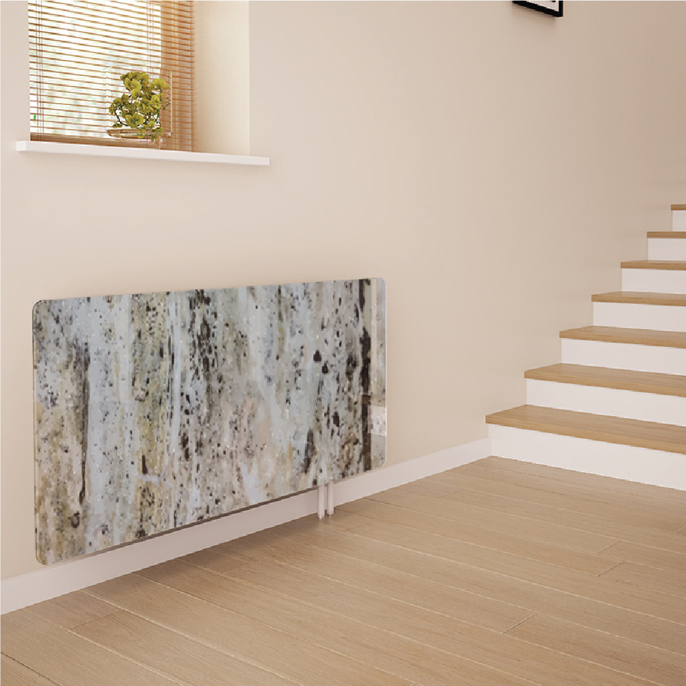 Stone, Marble & Granite Effect Glass Radiator Covers