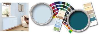 Bespoke Colours from the Dulux, RAL and Crown Ranges On Glass
