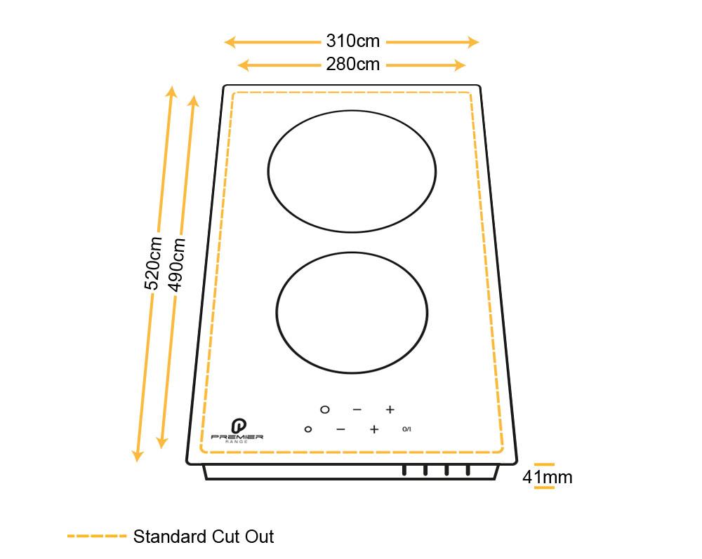 30cm 2 Ring Black Glass Built In Ceramic Hob Espresso Machine Diagram Gas Stove