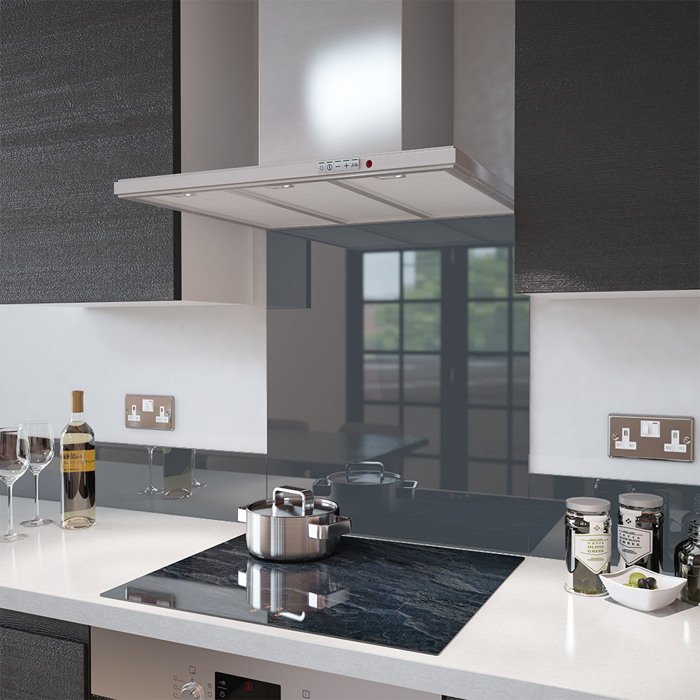 image of an anthracite grey splashback