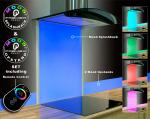 Remote Control Glass Led Mood Splashback Set + 2 Upstands