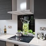 Mojito - Kitchen Glass Splashback With Fixing Holes - 70cm Wide x 90cm High