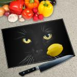 Digital Print Worktop Saver Chopping Board - Cat