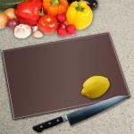 Chocolate Brown Toughened Glass Worktop Saver Chopping Board