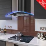 Fitted Chocolate Brown Glass Splashback for DC73.6M - 60cm Wide x 75cm High