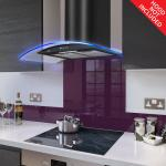 Fitted Deep Purple Glass Splashback for DC73.6M - 60cm Wide x 75cm High