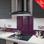 Fitted Deep Purple Glass Splashback for DC73.7 - 70cm Wide x 75cm High