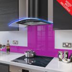 Fitted Fuchsia Pink Glass Splashback for DC73.6M - 60cm Wide x 75cm High