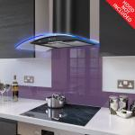 Fitted Lilac Glass Splashback for DC73.6M - 60cm Wide x 75cm High