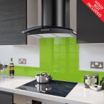 Fitted Lime Green Glass Splashback for DC73.7 - 70cm Wide x 75cm High