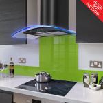 Fitted Lime Green Glass Splashback for DC73.6M - 60cm Wide x 75cm High
