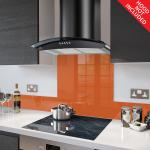Fitted Orange Glass Splashback for DC73.8 - 80cm Wide x 75cm High