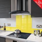 Fitted Yellow Glass Splashback for DC73.8 - 80cm Wide x 75cm High