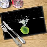 Digital Print Placemat x 4 - Lime in Water