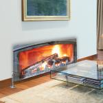 Log Fire - Printed Glass Radiator Cover