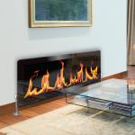 Real Flame Fire - Printed Glass Radiator Cover