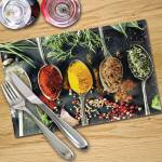 Digital Print Placemat x 4 - Asian Spices