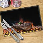 Digital Print Placemat x 4 - Char-grilled Steak
