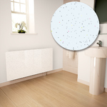 White Galaxy Granite Radiator Cover For The Bathroom - Medium