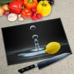 Digital Print Worktop Saver Chopping Board - Water Drop