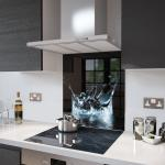 Lake Splash - Kitchen Glass Splashback - 60cm Wide x 75cm High