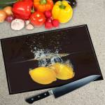 Digital Print Worktop Saver Chopping Board - Lemon Splash