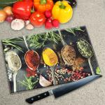 Digital Print Worktop Saver Chopping Board - Asian Spices