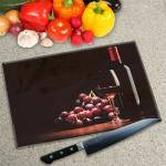 Digital Print Worktop Saver Chopping Board - Wine and Grapes