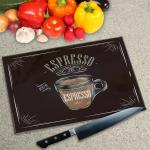 Digital Print Worktop Saver Chopping Board - Espresso Coffee
