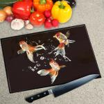 Digital Print Worktop Saver Chopping Board - Goldfish