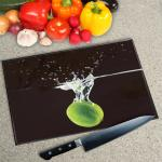 Digital Print Worktop Saver Chopping Board - Lime in Water