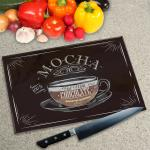 Digital Print Worktop Saver Chopping Board - Mocha Coffee
