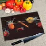Digital Print Worktop Saver Chopping Board - Peppers and Chili Splash