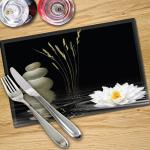 Digital Print Placemat x 4 - Water Lilly