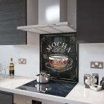 Mocha Coffee - Glass Splashback - 80cm Wide x 80cm High