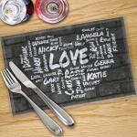 Made To Measure 4 x Word Collage Place Mats
