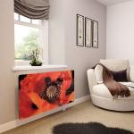 Poppy - Printed Glass Radiator Cover - Extra Small
