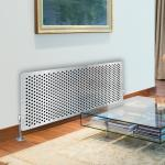 Stainless Steel - Printed Glass Radiator Cover