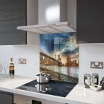 Shutterstock Print Glass Splashback - 60cm Wide by 75cm High