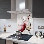 Red and White Wine - Glass Splashback - 90cm Wide x 70cm High