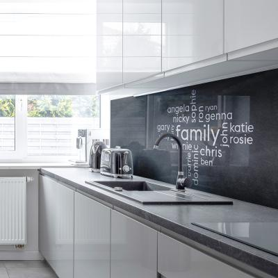 Your Own Word Collage on An Acrylic Splashback