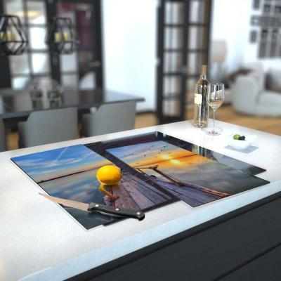 Glass Hob Cover / Chopping Board - Printed With Shutterstock Images