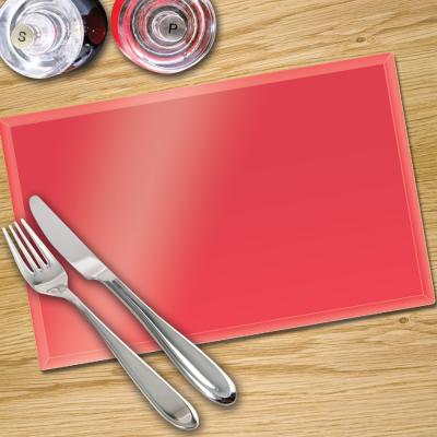 Glass Place Mats x 4 - In Premier Colours