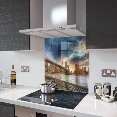 Shutterstock Print Glass Splashback - 70cm Wide by 65cm High